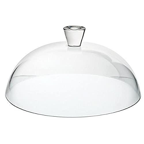 Pasabahce 95197 Patisserie Glass Dome mit Klassischer Runder Universalglocke, 30.7 cm Durchmesser, Transparent