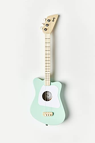 Loog 3 String Acoustic Guitar, Green, for Children and Beginners (LGMIG)