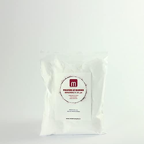 Polvere di Marmo Super impalpabile di Botticino - Carbonato di Calcio Puro- 0-30 Micron Caco3 - per Belle Arti, restauro, per PH Terreno. 1,5kg