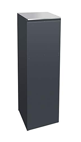 Frabox® Design Paketkasten NAMUR anthrazitgrau RAL 7016 / Edelstahl mit Hausnummer & Namen - 4