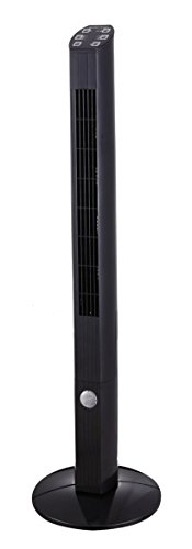 Hamilton Beach Tower Fan with Remote Control, 42-Inch, Black