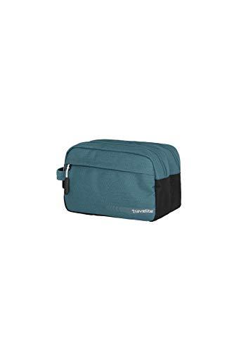 Travelite Handgepäck Kosmetiktasche, Gepäck Serie KICK OFF: Praktische Kulturtasche für Urlaub und Sport, 006920-22, 26 cm, 5 Liter, petrol (türkis)