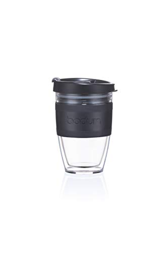 BODUM JOYCUP Travel Mug, Double Wall, 0.3 l, Black Band Tasse de voyage