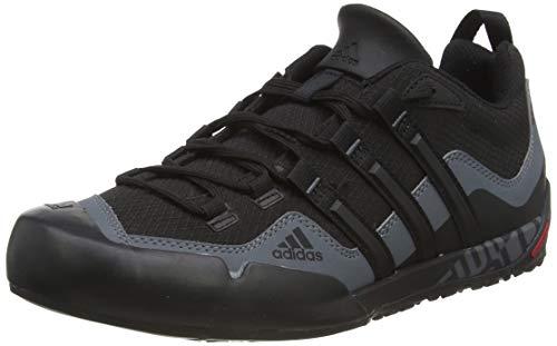 adidas Originals Unisex-Erwachsene Adidas Terrex Swift Solo D67031 Outdoor Fitnessschuhe, Schwarz (Black/Black/Lead), 44 EU