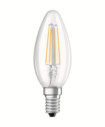 Osram Base Classic Lampada LED E14, 4 W, Bianco, Vetro, 2 Unità