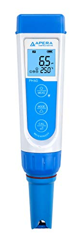 Apera Instruments AI311 Premium Series PH60 Waterproof pH Pocket Tester Kit, Replaceable Probe, ±0.01 pH Accuracy
