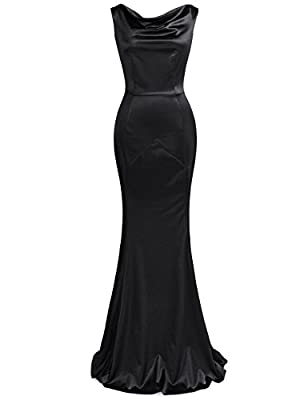 Imported Made from a black light stretchy sateen Finished off with a hidden zipper at the back A deep V at the back Do carefully read the size guide in the detailed pictures, not the ones by Amazon on the side of the item that you click