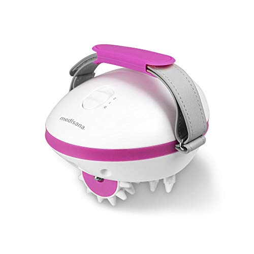 Medisana AC 850 Masajeador para celulitis para una piel más firme, auto-masaje con 6 rodillos de masaje rotativos y 2 intensidades de masaje
