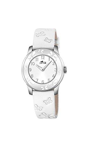 Lotus Unisex Analoger Quarz Uhr mit Echtes Leder Armband 18272/1