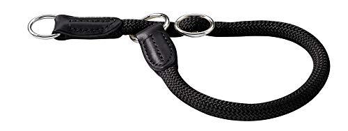 HUNTER Freestyle Dressurhalsung, Hundehalsband, Zugstopper, robust, wetterfest, 60 (L-XL), schwarz