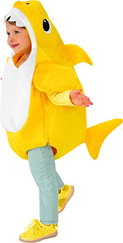 Rubie's Official Baby Shark Childs Costume, Plays the Baby Shark Tune, Toddler Size Age 1 - 2 years