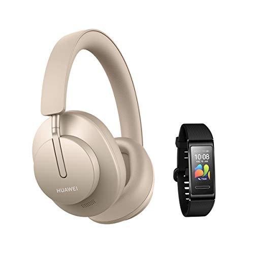 HUAWEI FreeBuds Studio Gold + Band 4 Pro Black - Auriculares...