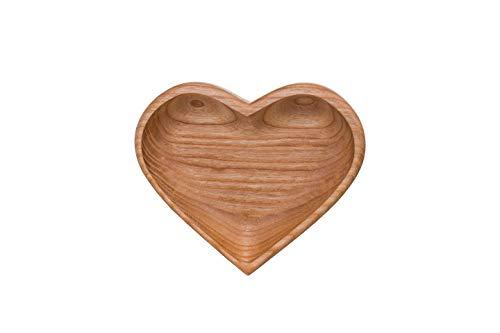 Snackschale aus Holz - Bowl Schüssel, Dekoration für Zuhause, Natürliches Material - Deko Schale...