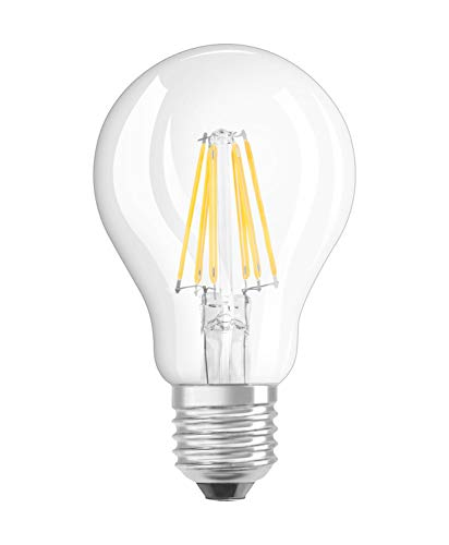 31+PcLSFwZL Bon Philips Hue !  Osram Ampoule LED à Filament | Culot E27 | Forme Standard | Blanc Chaud 2700K | 6W (équivalent 60W)