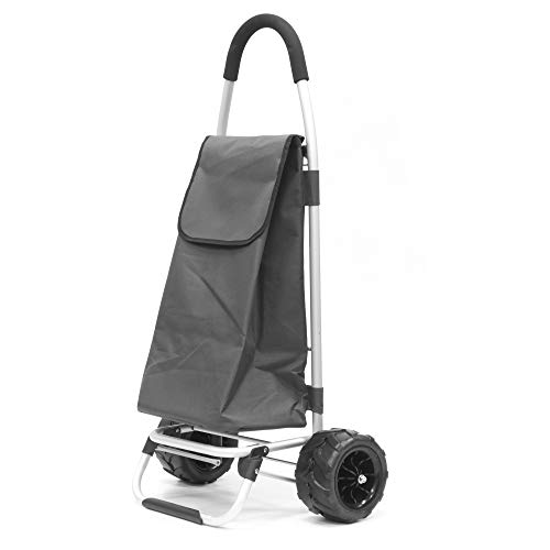 Creative Outdoor All-Terrain Folding Sport Trolley / Dolly with Cinch Top Bag | Lightweight Aluminum | Gray - 890110