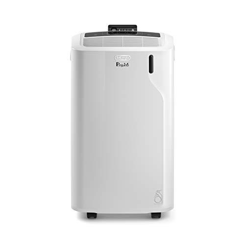 De'Longhi Pinguino PAC EM82 Eco, mobiles Klimagerät mit Abluftschlauch, Entfeuchtungs- & Ventilations-Funktion, Klimaanlage für Räume bis 80 m³, integrierter Staubfilter & 24h Timer, weiß