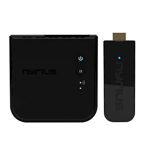 Nyrius Aries Pro+ Wireless HDMI Video Transmitter & Receiver to Stream...