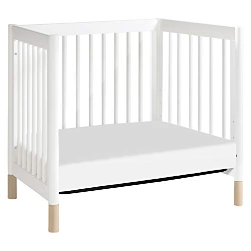 Product Image 8: Babyletto Gelato 4-in-1 Convertible Mini Crib in White / Washed Natural, Greenguard Gold Certified