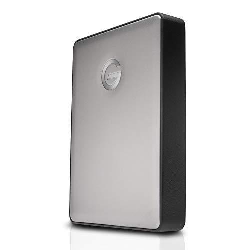 G-Technology G-Drive Mobile USB-C 4 TB (elegantes Aluminium-Design, schnelle Übertragungsrate 135 MB/s, USB-C-fähig, kompatibel mit USB 3.0 und Thunderbolt 3, Mac-kompatibel) space grau