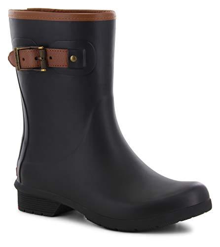 Chooka Women's Mid-Height Memory Foam Rain Boot Black, 10 M US