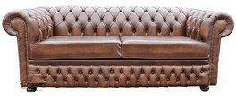 Chesterfield Winchester divano a 3posti, in stile antico marrone