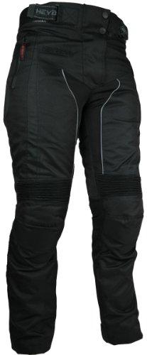 HEYBERRY Damen Motorrad Hose Motorradhose Textil Schwarz Gr. M / 38