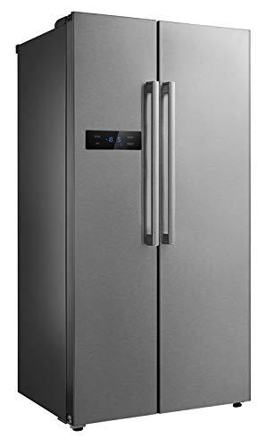 Frigorifero in acciaio inox con freezer, 510 litri, semi-professionale, in acciaio INOX, per uso...