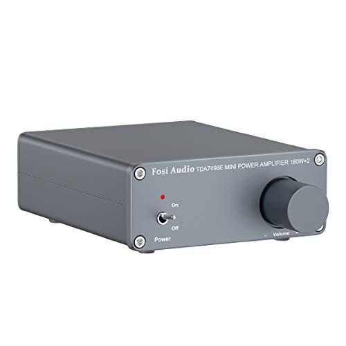 Fosi Audio - TDA7498E 2-Kanal-Stereo-Audioverstärkerempfänger Mini-HiFi-Klasse-D-Integrierter Verstärker für Heimlautsprecher 160 W x 2 + 24 V EU-Netzteil