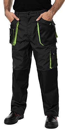 Pantaloni da Lavoro Uomo, Cargo Combat Pantaloni da Lavoro con Tasche al Ginocchio, Taglie Grandi Fino S-3XL, Colori Diversi, qualit 54