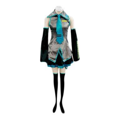 SUNKEE Vocaloid,Hatsune Miku Cosplay Disfraz, Tamaño XL (Altura 170-175 cm, Peso 55-60 kg)