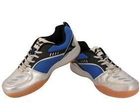 Nivia 155BL Appeal Badminton Shoes, UK 11 (Blue/Silver)