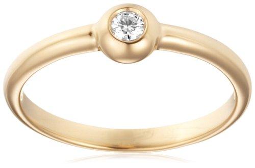 Miore M0615YO - Anillo de mujer de oro amarillo (18k) con 1 diamante (talla: 14)