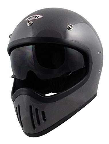 TNK工業 B-80 BEN フルフェイスヘルメット クラシックグレー FREEサイズ(58-59㎝) 51269