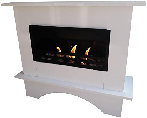 Kaminbau Mierzwa Ethanol Fireplace Gel Fireplace Model Nina White Including 27 Pieces Set