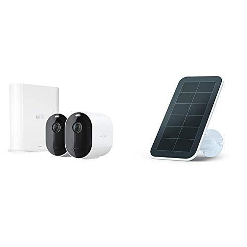 31-EUQOtdOL [Bon plan Arlo !  Arlo Pro 3 | Pack de 2 caméras de surveillance 2K HDR, Batterie rechargeable Alarme Grand angle 160° avec Panneau S...