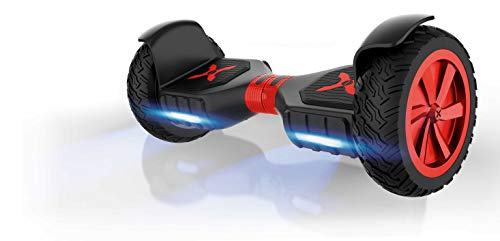 Hover-1 Charger Hoverboard Electric Scooter 10 inch Wheels Bluetooth Speaker and LED Lights, Black,...