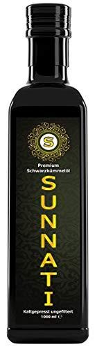 Sunnati® Ägyptisches Schwarzkümmelöl ungefiltert kaltgepresst rein 1000ml