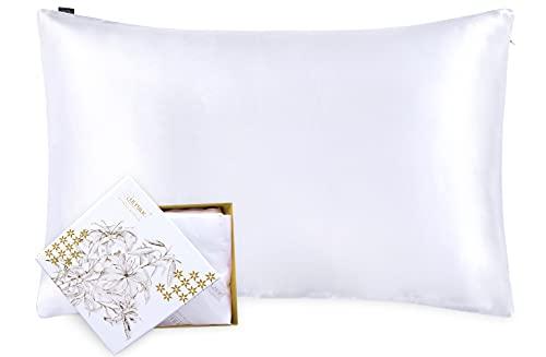 LilySilk Silk Pillowcase for Hair and Skin Standard-100%...