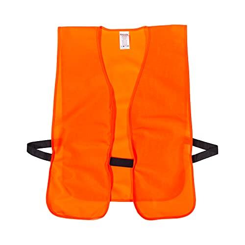Blaze Orange Adult Safety Vest: Chest 38-Inch to 48-Inch.