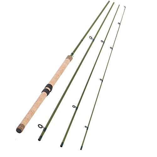 13FT 4 Pieces Carbon Fiber Sections CENTERPIN Float Fishing Rod Wooden Handle Steelhead Fishing...