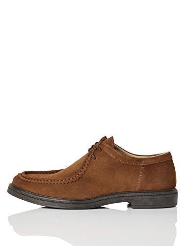 find. Leather Mocasín, Marrón (Brown (Suede), 42 EU