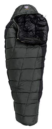 MOUNTCRAFT Dragon1000 Sleeping Bag (Olive Green/Black) 0 to -5 Degree for Camping,Hiking,Trekking and Climbing - Mummy Sleeping Bags