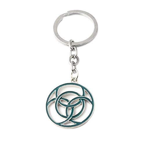 YUNMENG Schlüsselbund Schlüsselring Neueste Horizon Zero Dawn Schlüsselbund Dunkelgrün Symbol Logo Legierung Schlüsselring Anhänger Frauen Und Männer Fans Souvenir Drop Versand