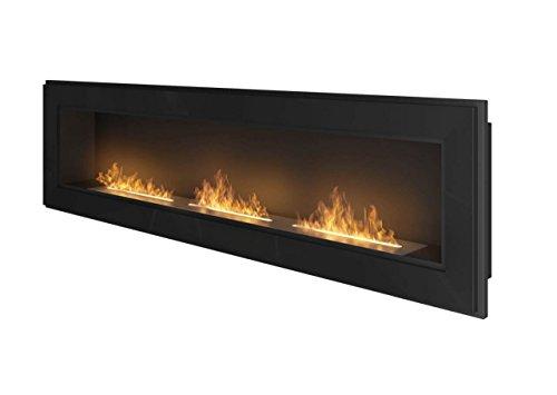 Infire Frame 1800Ethanol Fuel Fireplace, Black