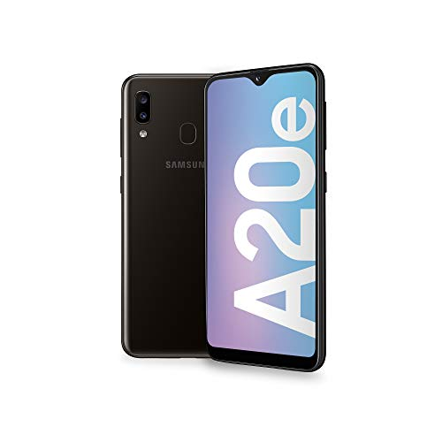 "Samsung Galaxy A20e Smartphone, Display 5.8"" HD+, 32 GB Espandibili, RAM 3 GB, Batteria 3000 mAh, 4G, Dual SIM, Android 9 Pie, [Versione Italiana], Black"