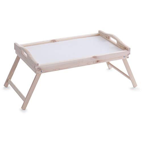 Zeller 24038 Vassoio da letto in pino, 51 x 32 x 25 cm