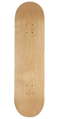 CCS Blank Skateboard Deck Natural Wood 8.25'