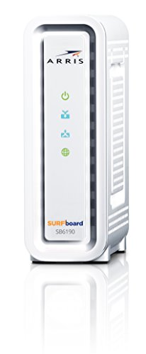 ARRIS Surfboard SB6190-RB DOCSIS 3.0 Cable Modem - (Renewed) - White