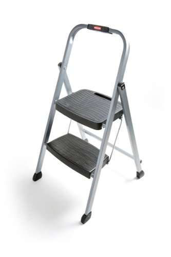 6. Rubbermaid Folding Steel Frame Stool
