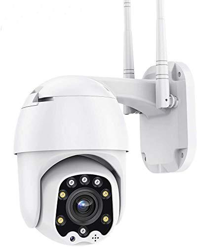 Telecamera WiFi Esterno PTZ WiFi Camera 1080P Senza Fili, AI Rilevamento Umanoide, Visione Notturna, Audio a 2 Vie, IP66 Impermeabile, Supporto Camhi